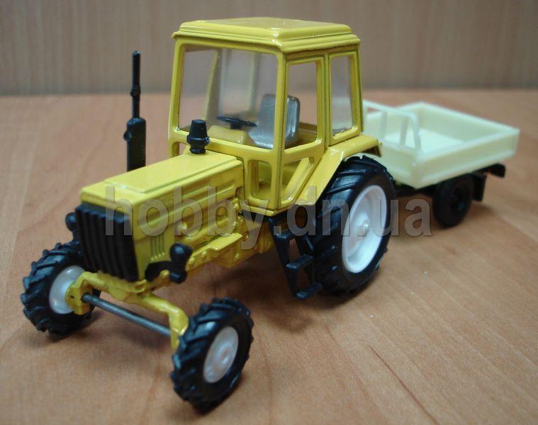 Трактор мтз 82 беларус синий масштаб 1