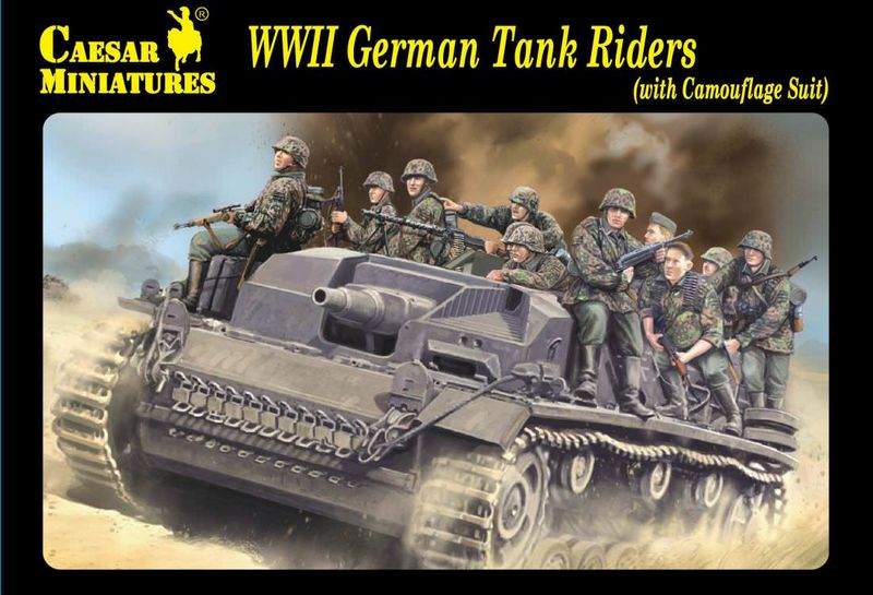 Caesar CSR H099 WWII German Tank Riders (with camouflage suit)