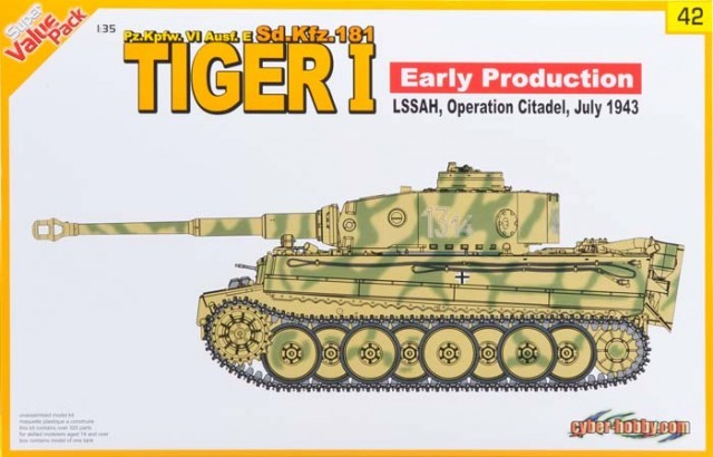 Cyberhobby CBH 9142 Tiger I Early Production (Pz.Kpfw. VI Ausf. E, Sd.Kfz. 181)