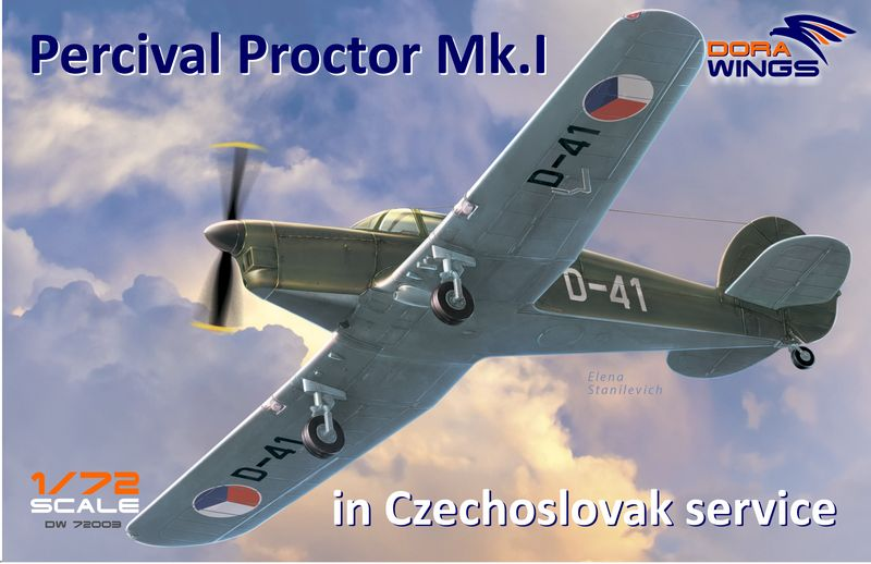 Dora wings DRW 72003 Самолет Percival Proctor Mk.I