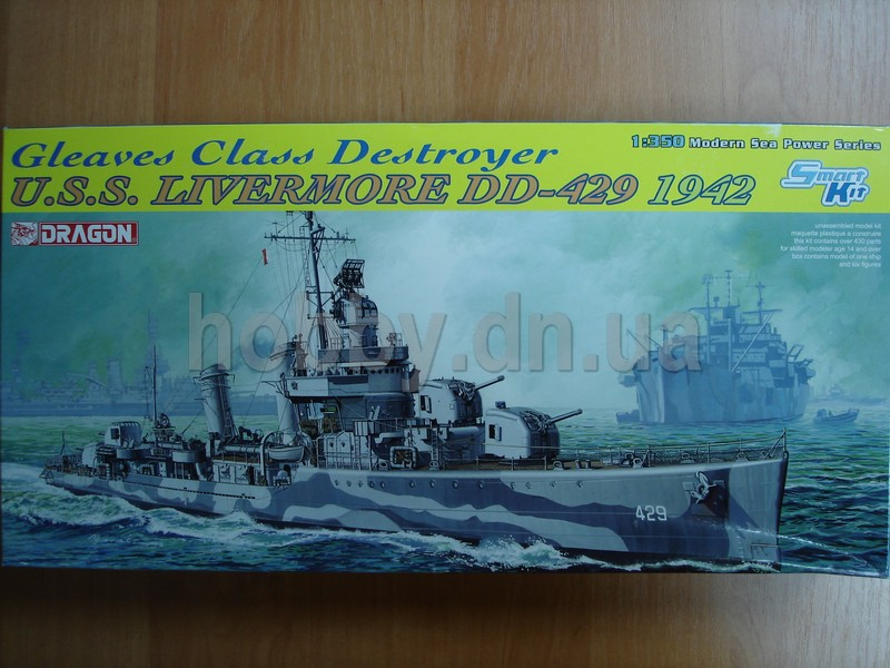 "Dragon DRA 1027 Gleaves Class Destroyer U.S.S. ""Livermore"" (DDG-429, 1942)"