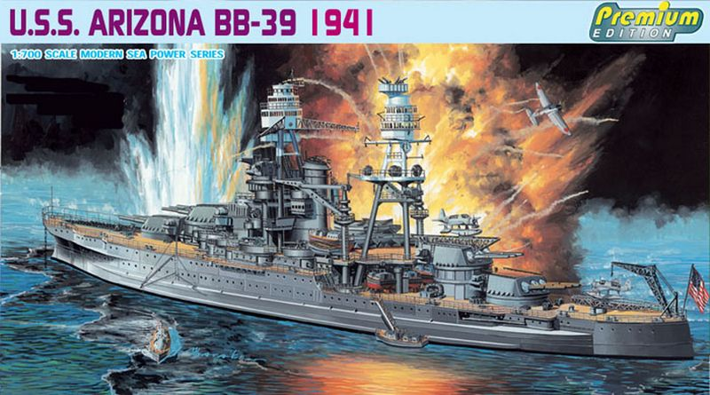 "Dragon DRA 7053 Линкор (кл. Pennsylvania) USS ""Arizona"" (BB-39, 1941)"
