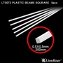 Plastic Beams Squrare 0.5 mm X 0.5 mm X 200 mm 6 pcs.