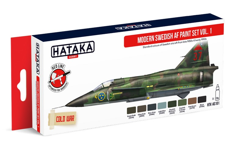 Hataka HTK-AS101 Modern Swedish AF Paint Set Vol. 1