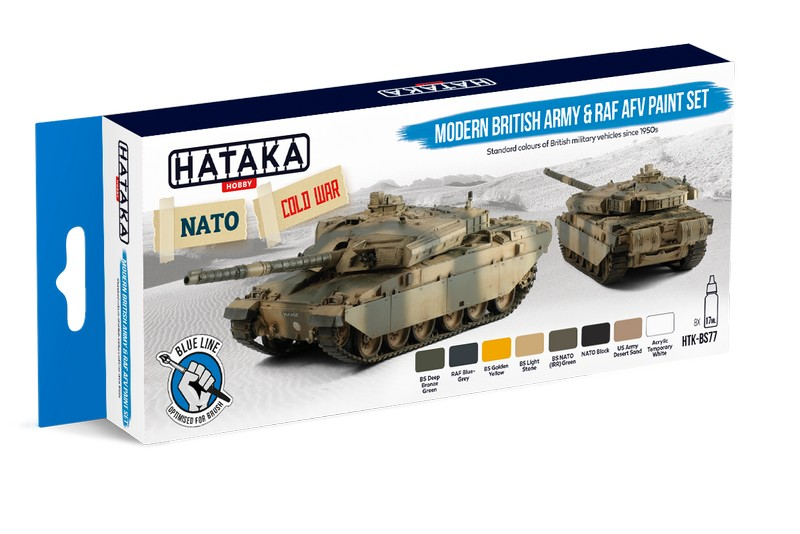 Hataka HTK-BS77 Modern British Army & RAF AFV Paint Set