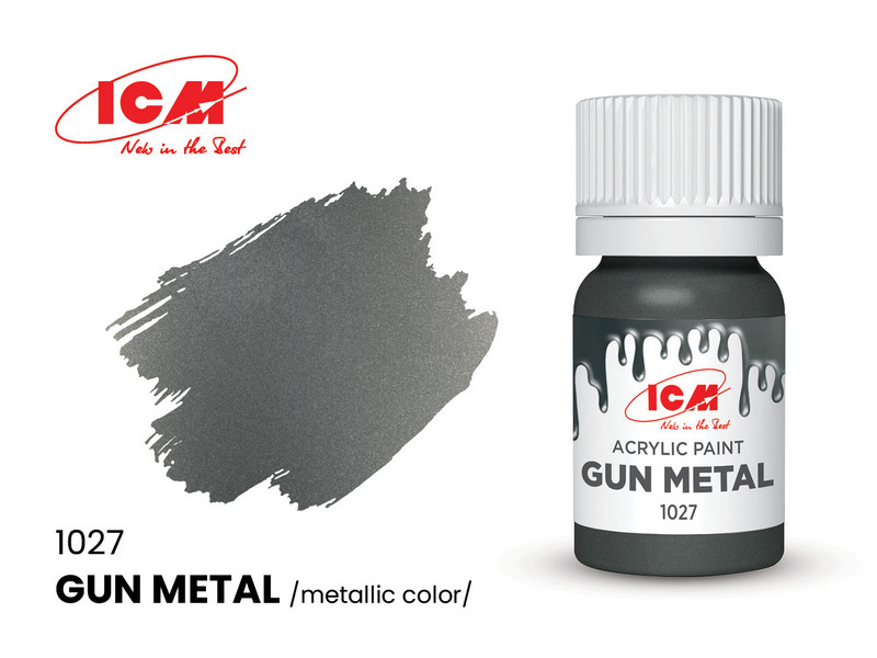 ICM ICM 1027 Gun metal - 12ml Acrylic Paint