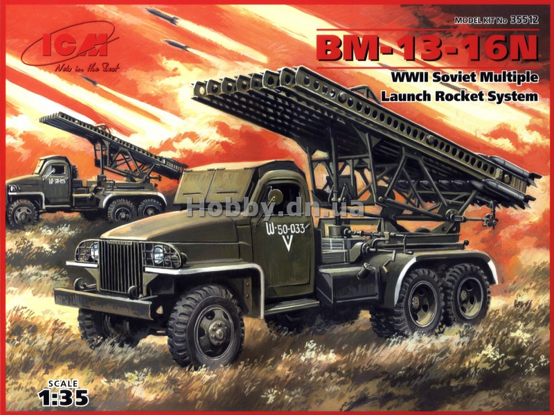 ICM ICM 35512 BM-13-16N WWII Soviet Multiple Launch Rocket System