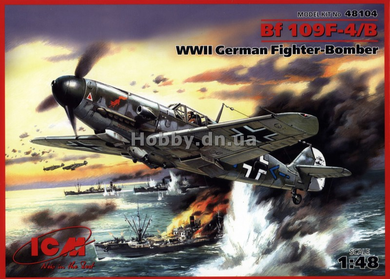 ICM ICM 48104 Самолет Bf 109F-4/B WWII German Fighter-Bomber