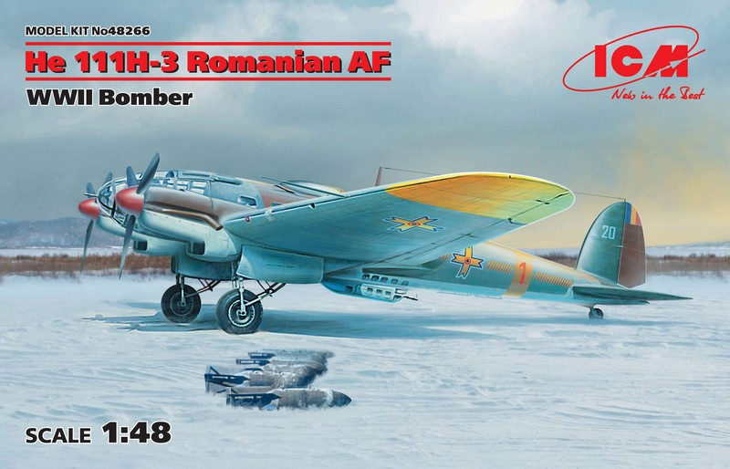 ICM ICM 48266 Heinkel He 111H-3 Romanian AF, WWII Bomber