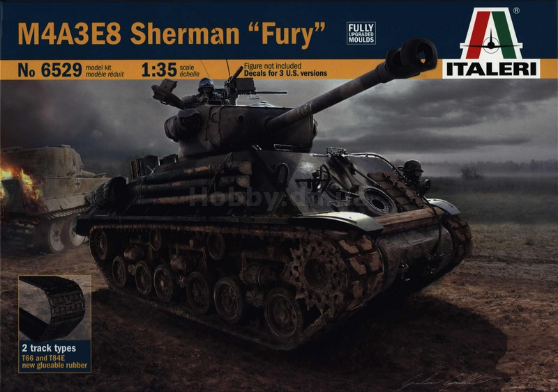 Italeri ITA 6529 Танк M4A3E8 Sherman Fury