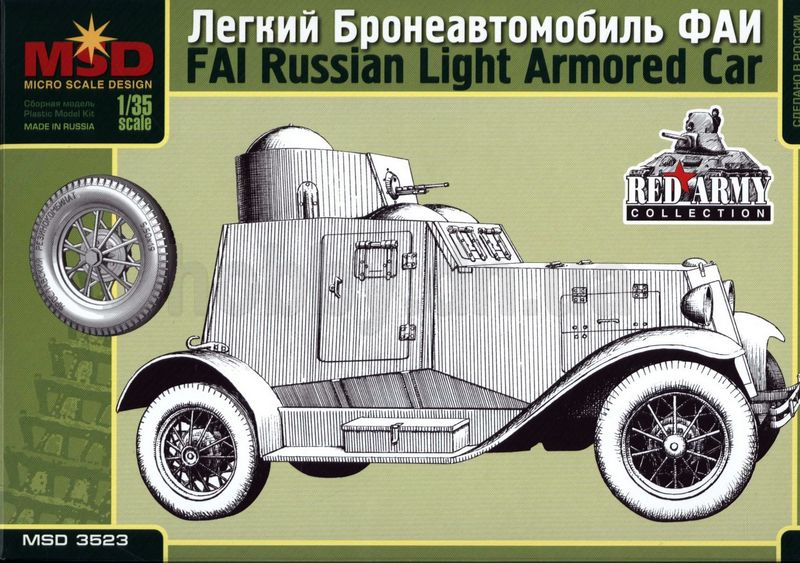 Maquette-MSD MQ 3523 FAI Russian Light Armored Car