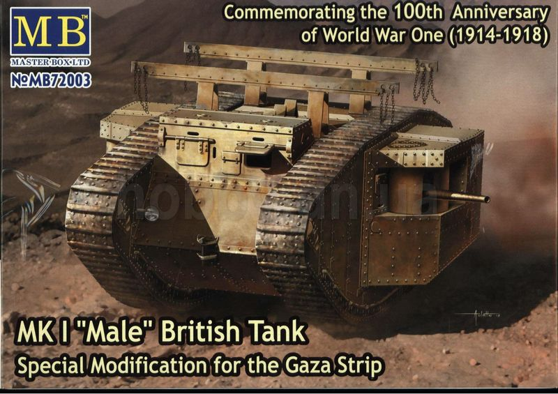 "Masterbox MB 72003 MK I ""Male"" British Tank, Special Modification for the Gaza Strip 1/72"