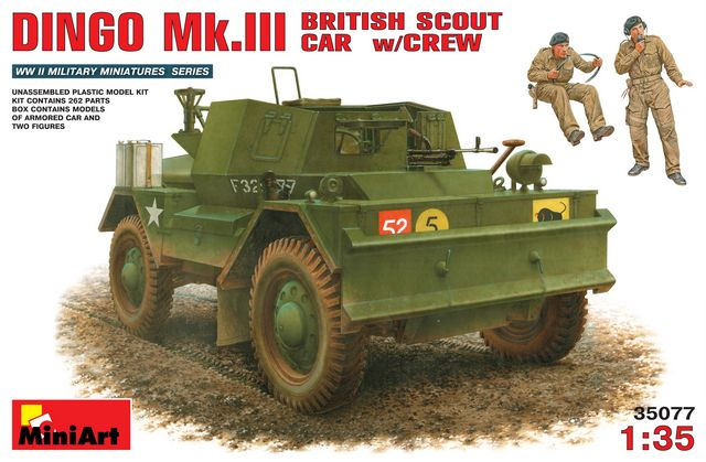 Miniart MRT 35077 DINGO Mk.III BRITISH ARMORED CAR w/CREW