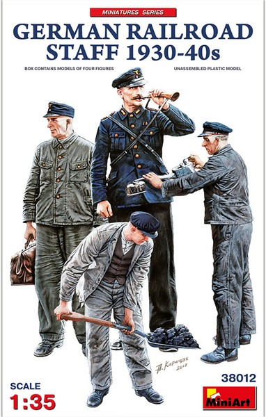 Miniart MRT 38012 German Railroad Staff (1930-40s)