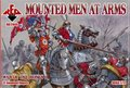 Фигуры Mounted men at arms. War Of The roses 5. 1/72