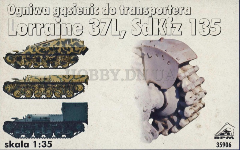 RPM RPM 35906 Track Links for for Lorraine 37L, SdKfz 135