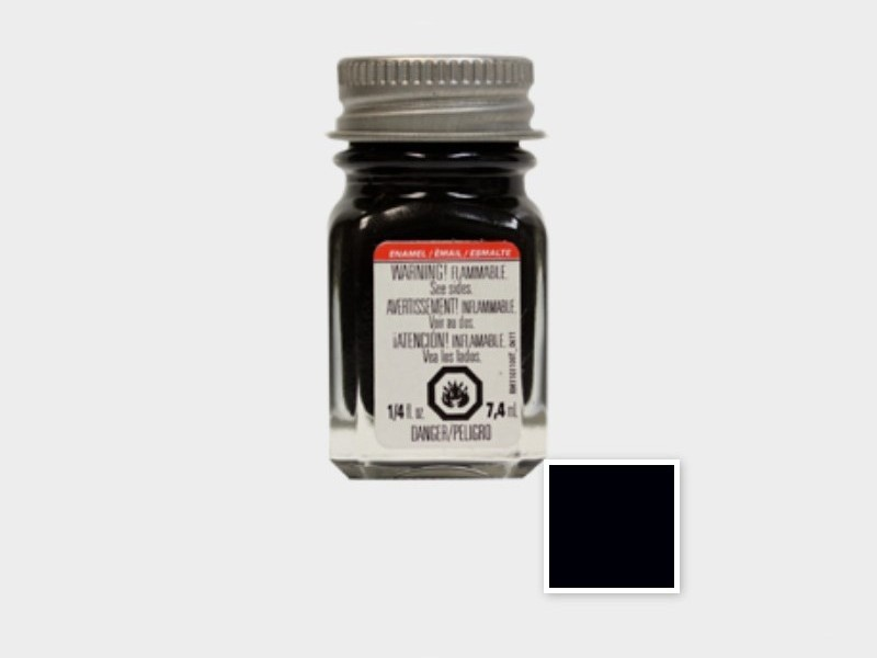 Testors TES 1149TT Flat Black Enamel Paint (7.4 ml)