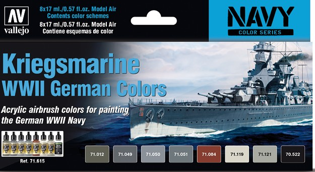 Vallejo VAL 71615 Kriegsmarine paint set
