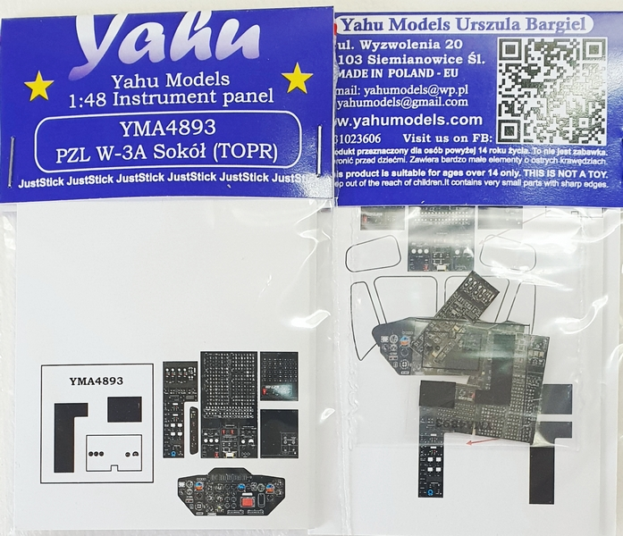 Yahu models YAH YMA4893 Instrumental Panel for PZL W-3A Sokol (TOPR)